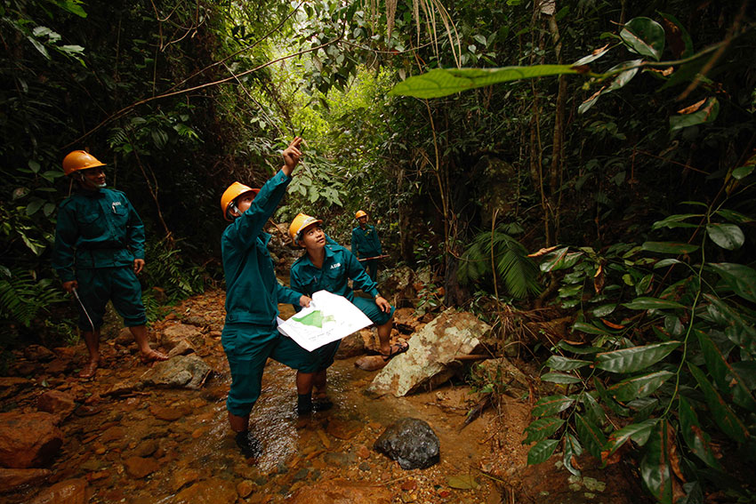 Community forest rangers in Viet Nam.