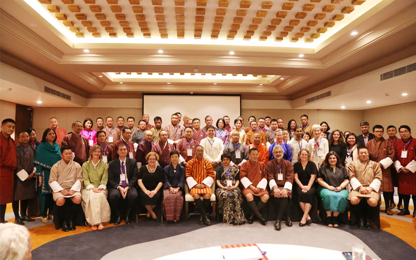 Group photo from the Workshop on Environmental Adjudication for the Judiciary of Bhutan held from 19-20 July 2018.