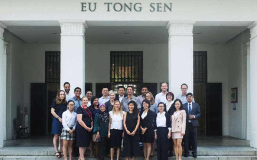 Group photo from the climate change litigation scholarship workshop organized by the Asia-Pacific Centre for Environmental Law, National University of Singapore, co-hosted a  with Yale Law School that was held from 7-8 June 2018.